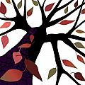 Tree With Autumn Leaves by Larry Almonte