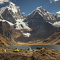 Trekkers Camp Near Carhuacocha Lake by Colin Monteath