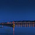 Trempealeau Damn Under A Full Moon by Kelvin Andow