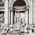Trevi Fountain Detail by Joan Carroll