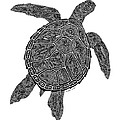 Tribal Turtle IIi by Carol Lynne