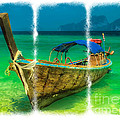 Triptych Longboat by Adrian Evans