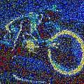 Tron Light Cycle Skittles Mosaic by Paul Van Scott