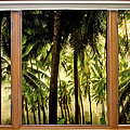 Tropical Jungle Paradise Window Scenic View by James BO Insogna
