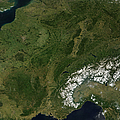 True-color Satellite View Of France by Stocktrek Images