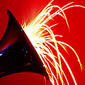 Trumpet Shooting Sparks by Garry Gay