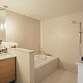 Tub And Shower In Bathroom by Andersen Ross