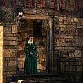 Tudor Lady In Doorway by Jill Battaglia