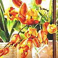 Tulipes A La Fenetre by Katia Tchirieff