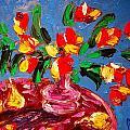 Tulips Vase by Mark Kazav