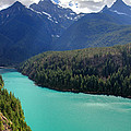 Turquoise Water Of Diablo Lake In The North Cascades Np by Pierre Leclerc Photography