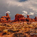 Turret Arch And Storm Clouds by Robert Bales