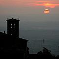Tuscan Sunset Over Cortona Italy by Greg Matchick
