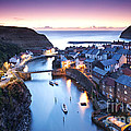 Twilight Glow Staithes by Richard Burdon