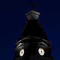 Twilight View Of Clock At Clarksville Historic Courthouse  by Ed Gleichman