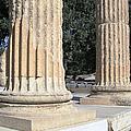 Twin Columns Olympia Greece by John Shiron