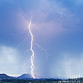 Twisted Lightning Strike Colorado Rocky Mountains by James BO  Insogna