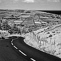 Twisty Country Mountain Road Through Glenaan Scenic Route Glenaan County Antrim  by Joe Fox