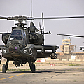 Two Ah-64 Apache Helicopters Return by Terry Moore
