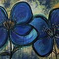 Two Blue Poppies by Laurie Maves ART