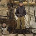 Two Children On Deck by Henry Scott Tuke