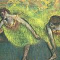 Two Dancers Relaxing by Edgar Degas