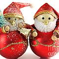 Two Father Christmas Decorations by Simon Bratt Photography LRPS