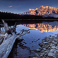 Two Jack Lake Banff Canada by Dave Mills
