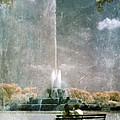 Two People By Buckingham Fountain by Jill Battaglia