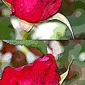 Two Rose Buds by Augusta Stylianou