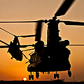 Two Royal Air Force Ch-47 Chinooks Take by Stocktrek Images