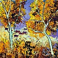 Two Trees In Fall by Pol Ledent