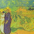 Two Women Crossing The Fields by Vincent Van Gogh