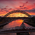 Tyne Bridges At Sunrise IIi by David Pringle