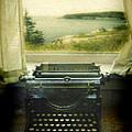 Typewriter By Window by Jill Battaglia