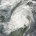 Typhoon Haikui Makes Landfall by Stocktrek Images