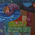 U Is For The Unfortunate Detail From Childhood Quilt Painting by Dawn Senior-Trask