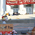 Uc Berkeley . Sproul Hall . Sproul Plaza . Occupy Uc Berkeley . The Is Just The Beginning . 7d10018 by Wingsdomain Art and Photography