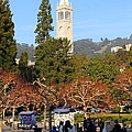 Uc Berkeley . Sproul Plaza . Sather Gate . 7d9998 by Wingsdomain Art and Photography