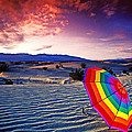 Umbrella On Desert Sands by Garry Gay