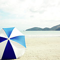 Umbrella On Sand by Grace Oda
