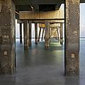 Under Dania Beach Pier by Glennis Siverson