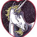 Unicorn-valentines-drawing by Gordon Punt