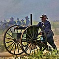 Union Gatling Gun Fire by Tommy Anderson