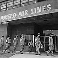 United Air Lines Uniformed Pilots Form by Everett