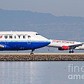 United Airlines And Virgin America Airlines Jet Airplanes At San Francisco International Airport Sfo by Wingsdomain Art and Photography