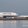 United Airlines Jet Airplane At San Francisco International Airport Sfo . 7d12081 by Wingsdomain Art and Photography