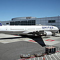 United Airlines Jet Airplane At San Francisco Sfo International Airport - 5d17114 by Wingsdomain Art and Photography