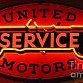 United Motors Service Neon Sign by Bob Christopher