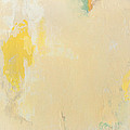 Untitled Abstract - Bisque With Yellow by Kathleen Grace